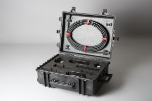 Transport case with PECT probes and cable